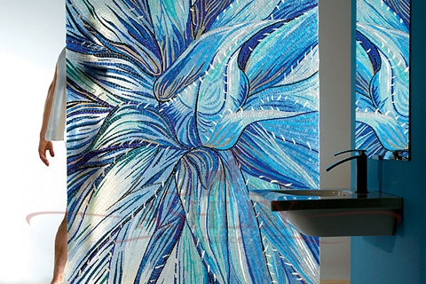 Blue Aloe Sicis The Sheer Glass Мозаика Италия